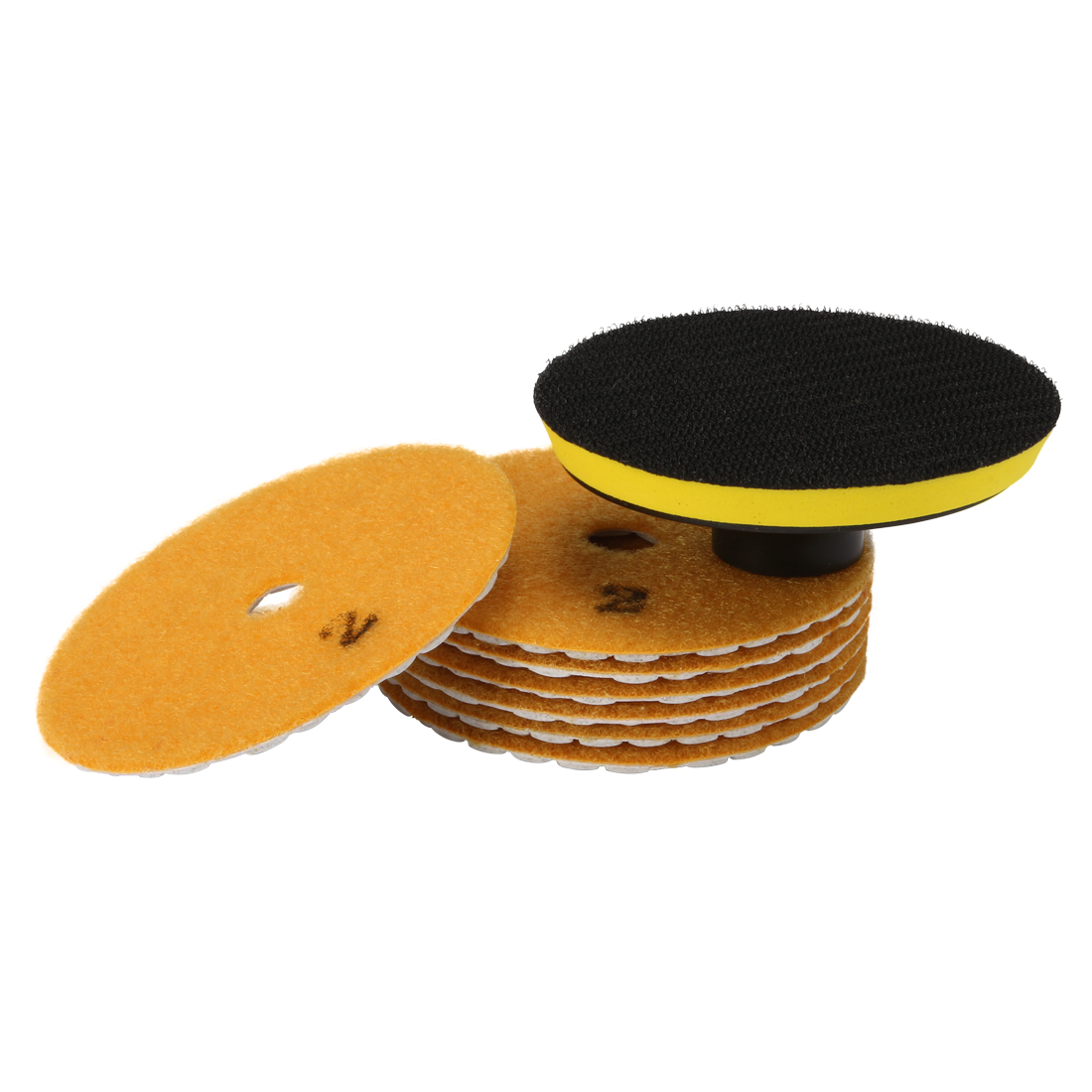 4-inch Diamond Dry Polishing Pad Grit 300 7PCS for Sanding Marble Granite Stone
