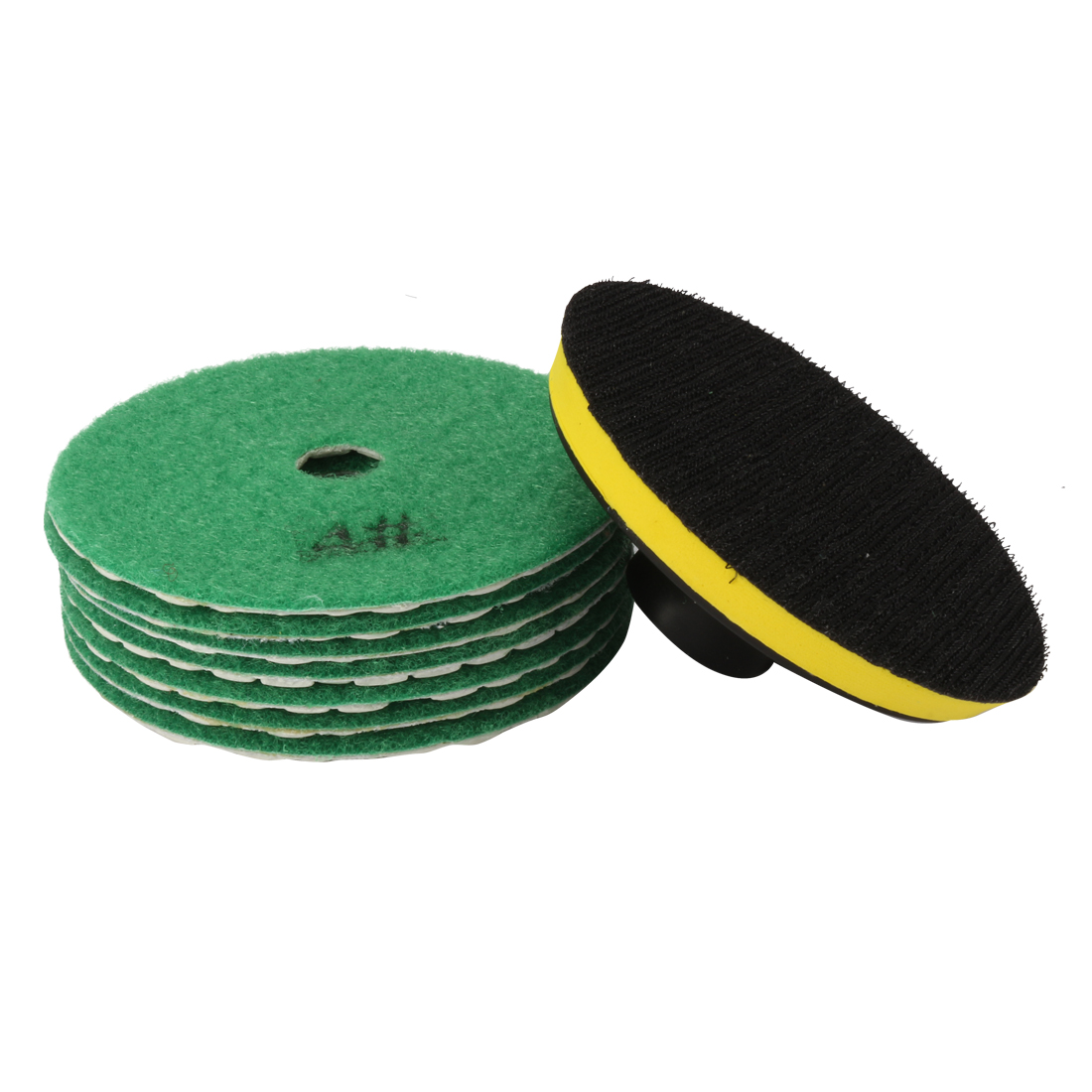 "4"" Diamond Dry Polishing Pad Grit 1000 7PCS for Sanding Marble Granite Stone"