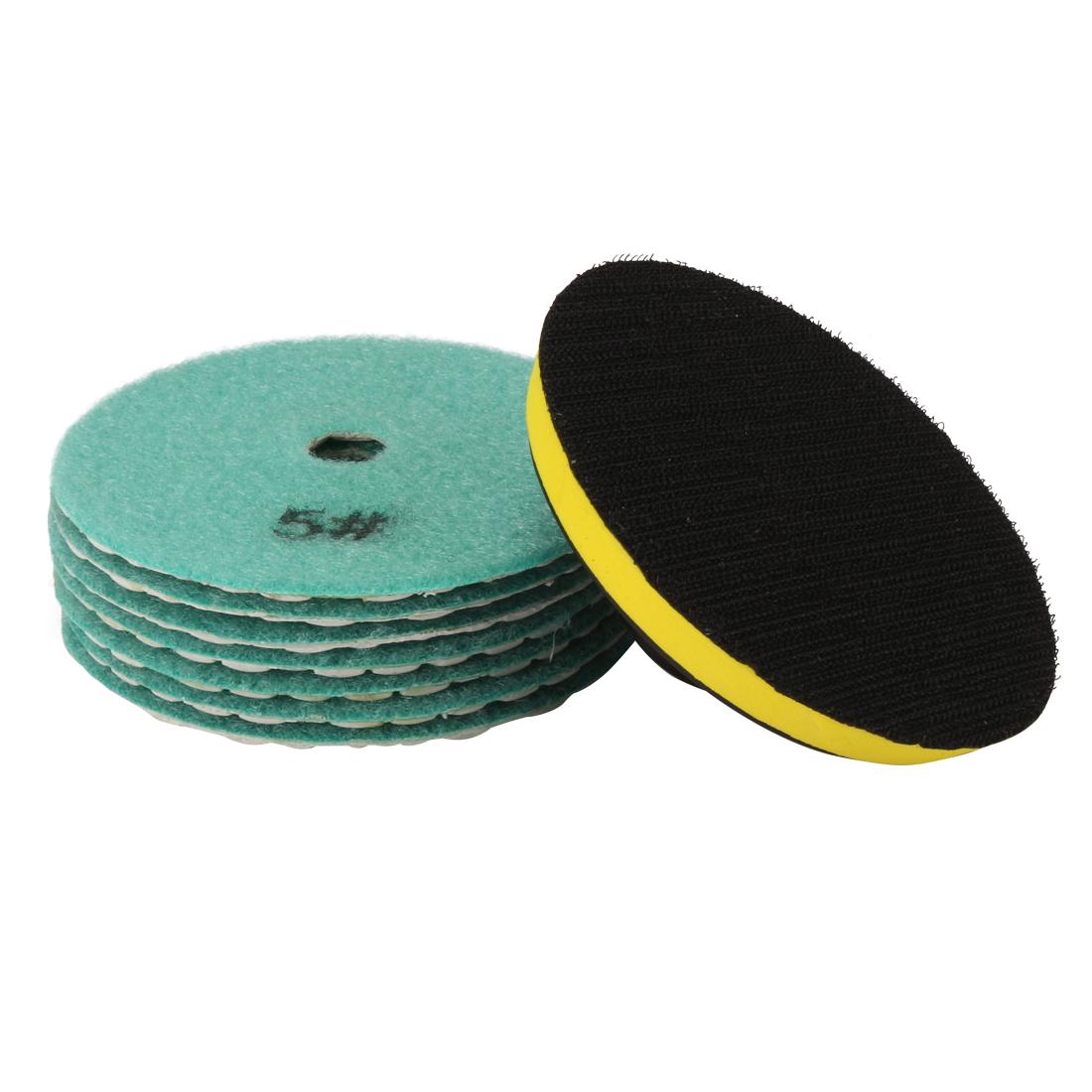 "4"" Diamond Dry Polishing Pad Grit 2000 7PCS for Sanding Marble Granite Stone"