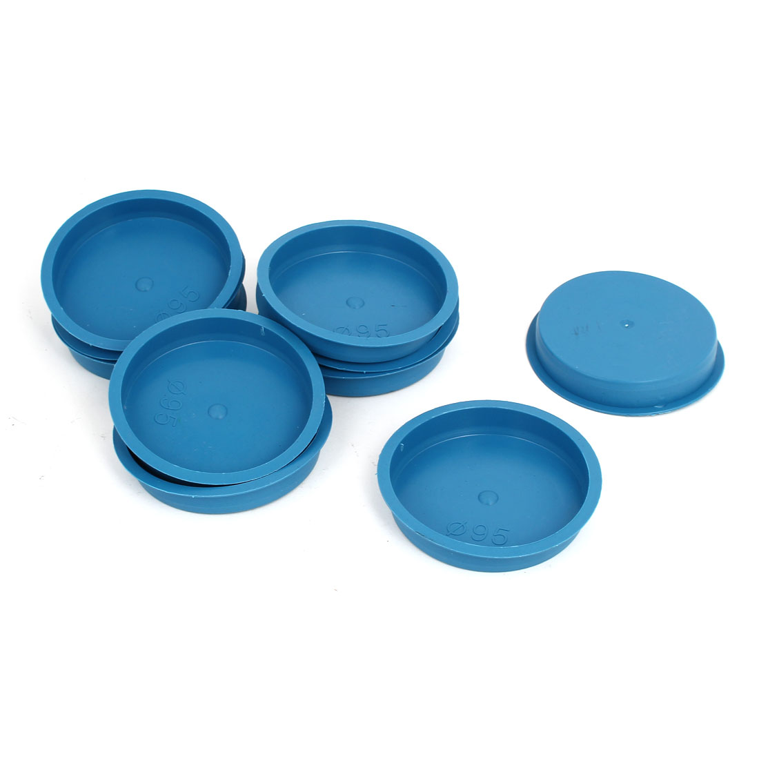 95mm Flange Mounted Tapered Hole Stoppers Waterproof Caps Blue 10pcs