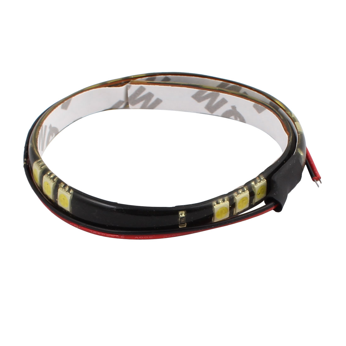 30CM 12V RGB 50mm x 50mm Yellow LED Strip Light For Motorcycle or Car with 15 lights