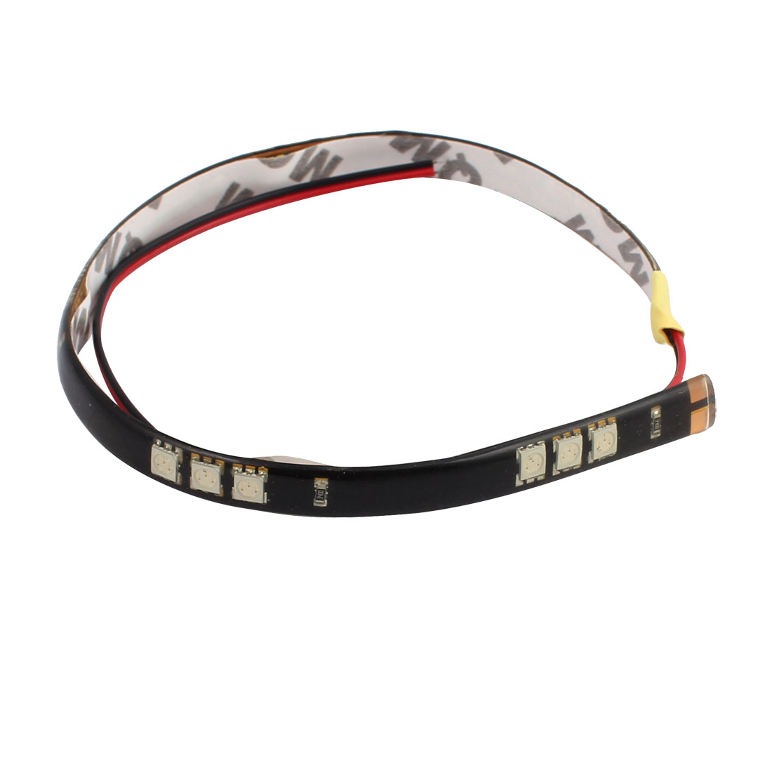 60CM 12V RGB 50mm x 50mm White Car LED Strip Light with 15 lights