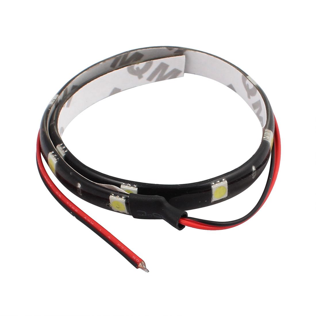 60CM 12V RGB 50mm x 50mm White LED Strip Light For Motorcycle or Car decorative lights