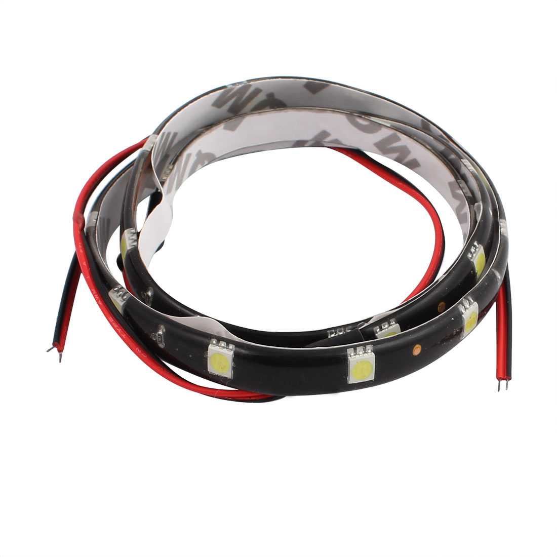 60CM 12V RGB 50mm x 50mm Red LED Strip Light For Motorcycle or Car with 30 lights