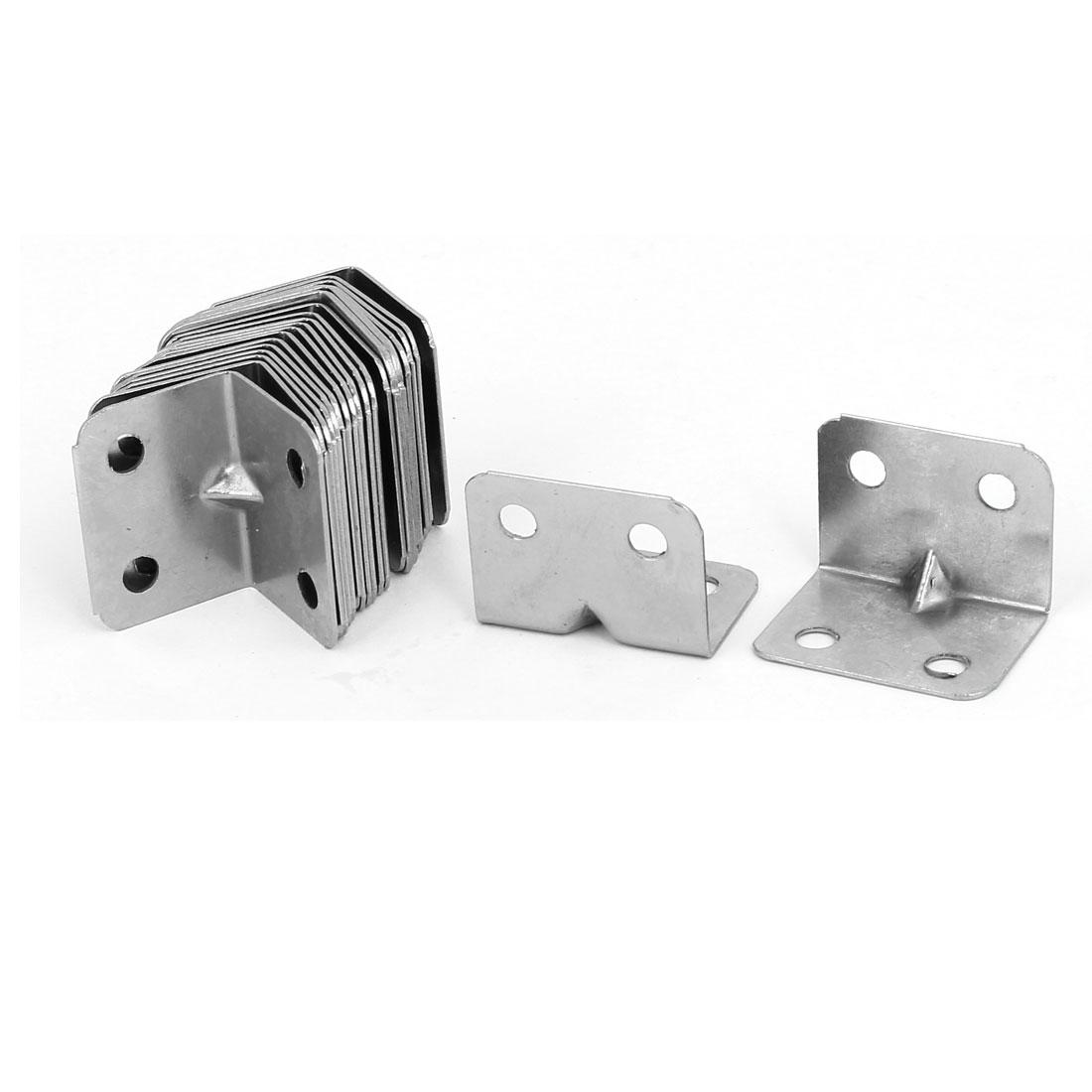 25mmx25mmx32mm Stainless Steel 90 Degree Angle Brackets Corner Braces 20pcs
