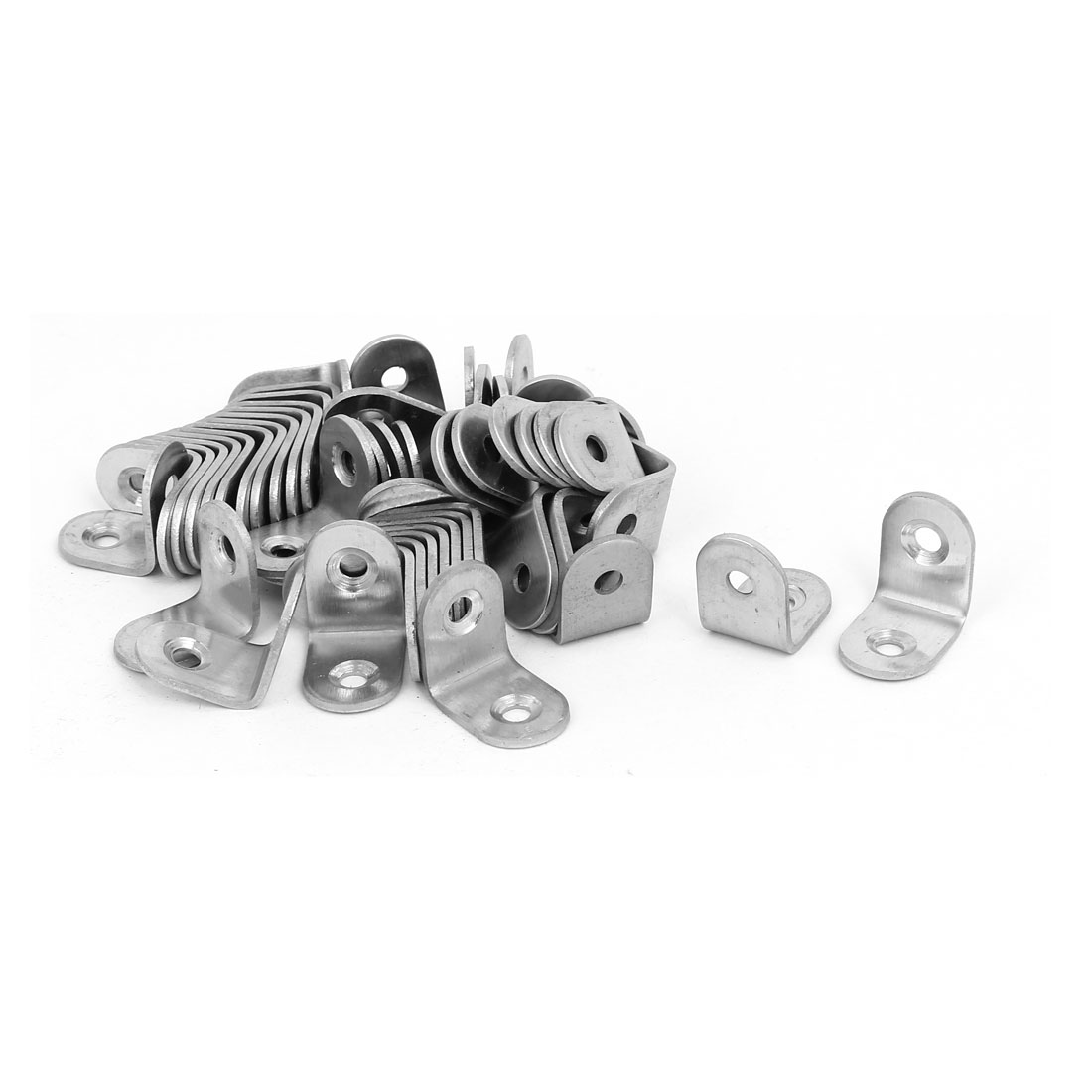 20mm Long Stainless Steel 90 Degree L Shaped Angle Bracket Brace Support 100pcs