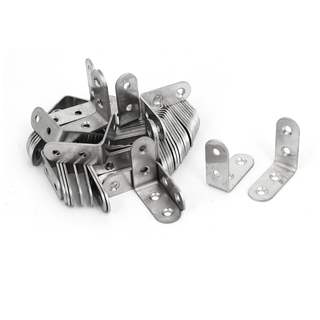 40mm Long Stainless Steel 90 Degree L Shaped Angle Bracket Brace Support 100pcs