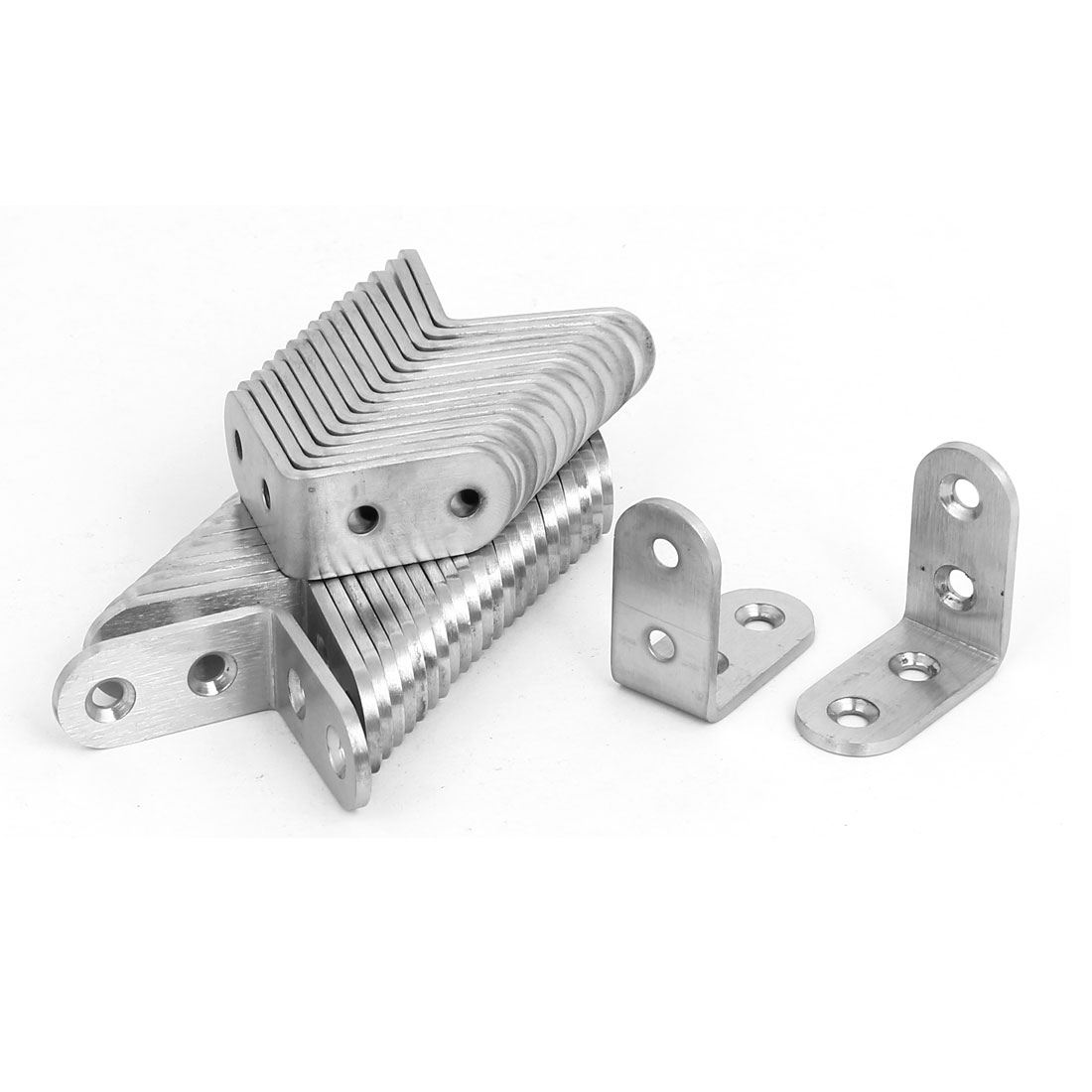 40mmx40mmx3mm Stainless Steel L Shaped Angle Brackets Shelf Supports 50pcs