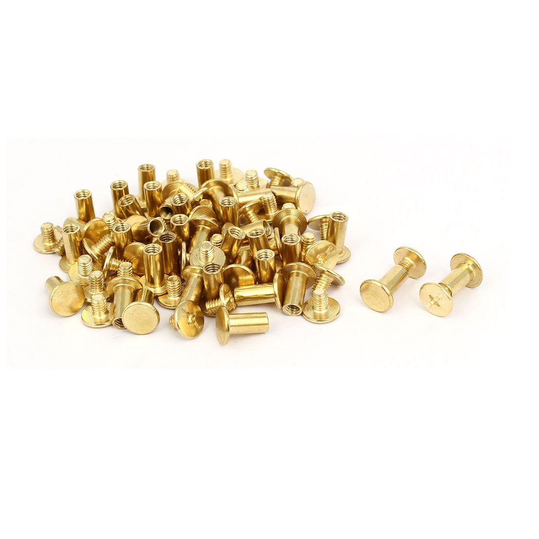 M5x10mm Binding Chicago Screw Post Gold Tone 40pcs for Photo Albums Scrapbook