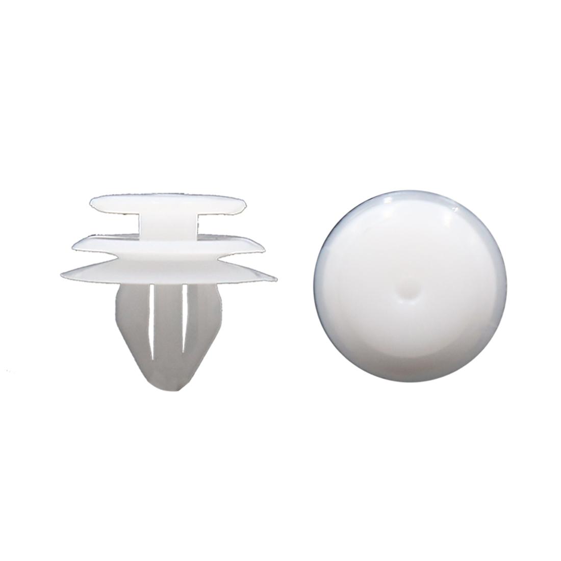 20 Pcs 9mm Hole White Plastic Push in Rivet Interior Trim Panel Car Door Clips