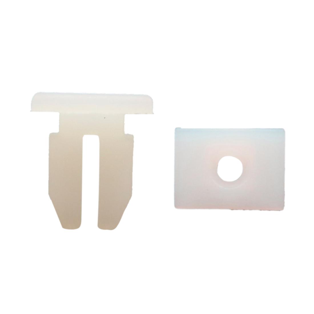 100Pcs White Plastic Rivets Push Type Door Weatherstrip Trim Fastener Clips 10mm