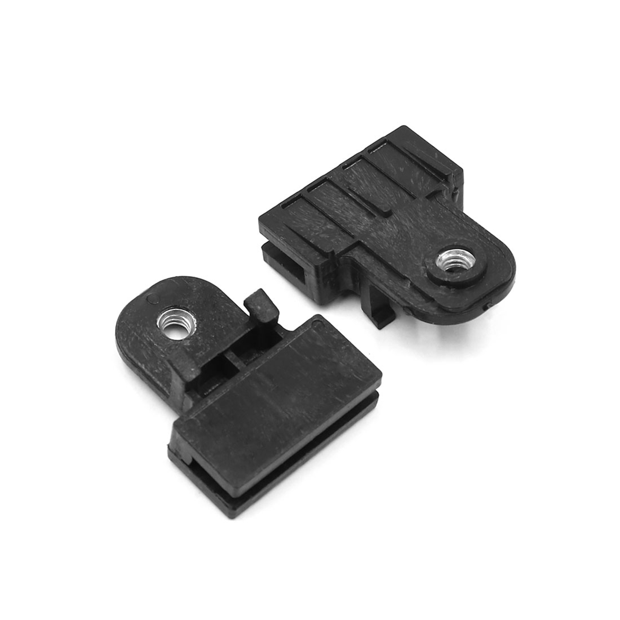 10Pcs Black Universal Window Glass Channel Support Holder Clips 40 x 5mm Slot