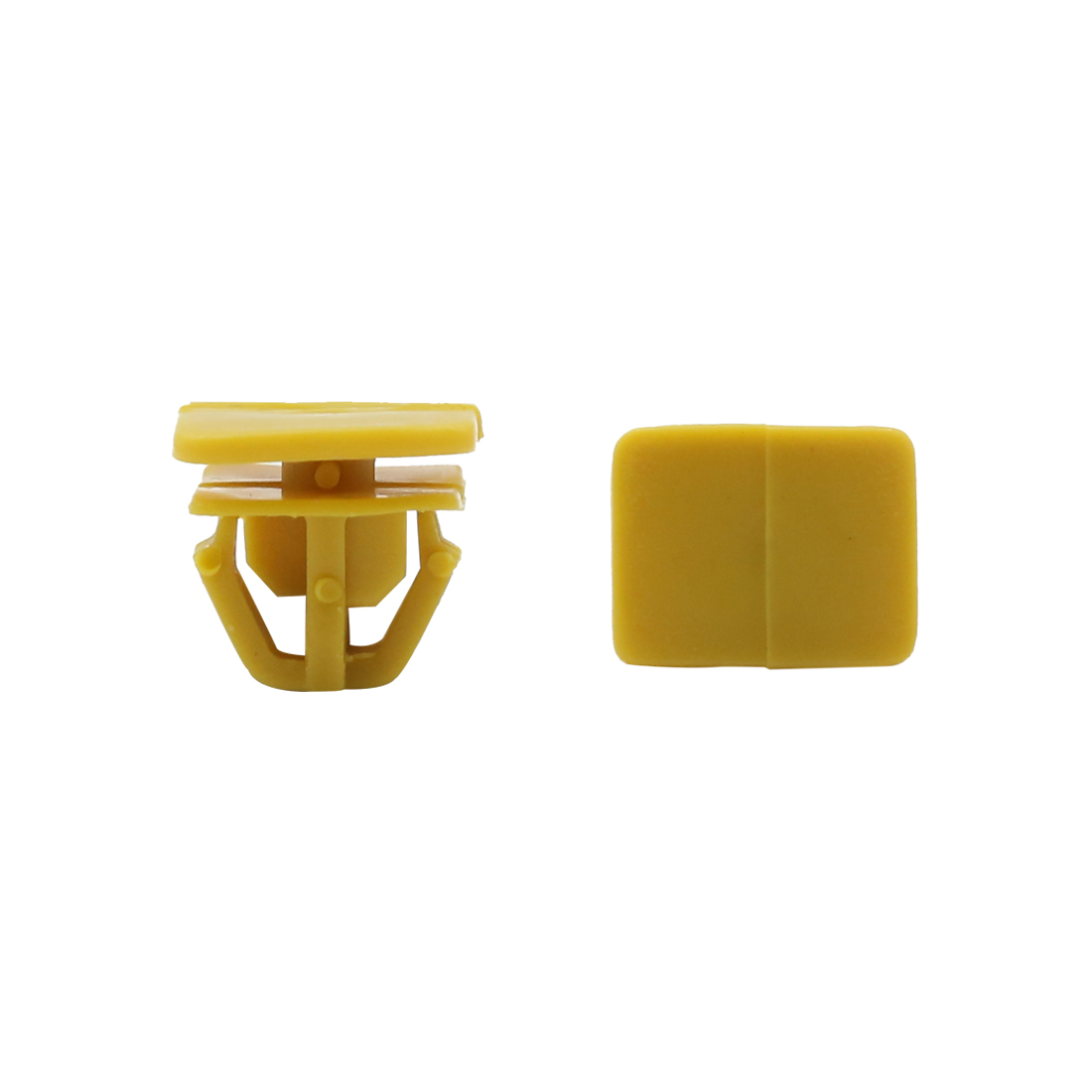 50pcs Yellow Rectangle Car Rivet Fastener Door Trim Panel Retainer Bumper Clips