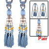 Room Nylon Window Decor Curtain Tassel Hanging Ornament Fringe Tieback Cord Light Blue Pair