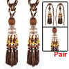 Bedroom Nylon Window Drapery Curtain Decoration Tiebacks Rope Tassel Pair