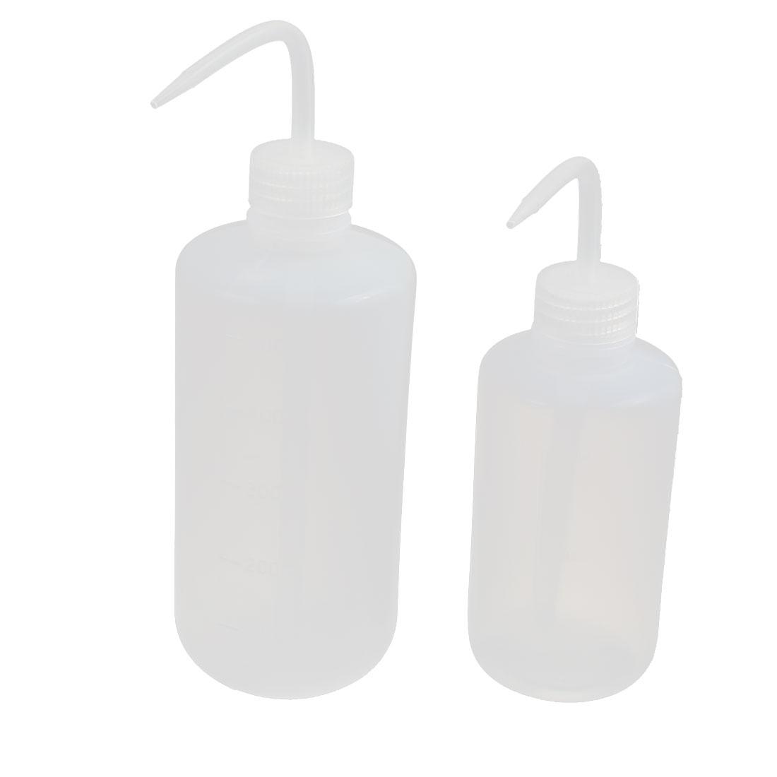 2Pcs 250ml/500ml LDPE Economy Wash Bottles Squeeze Bottles Label Tattoo