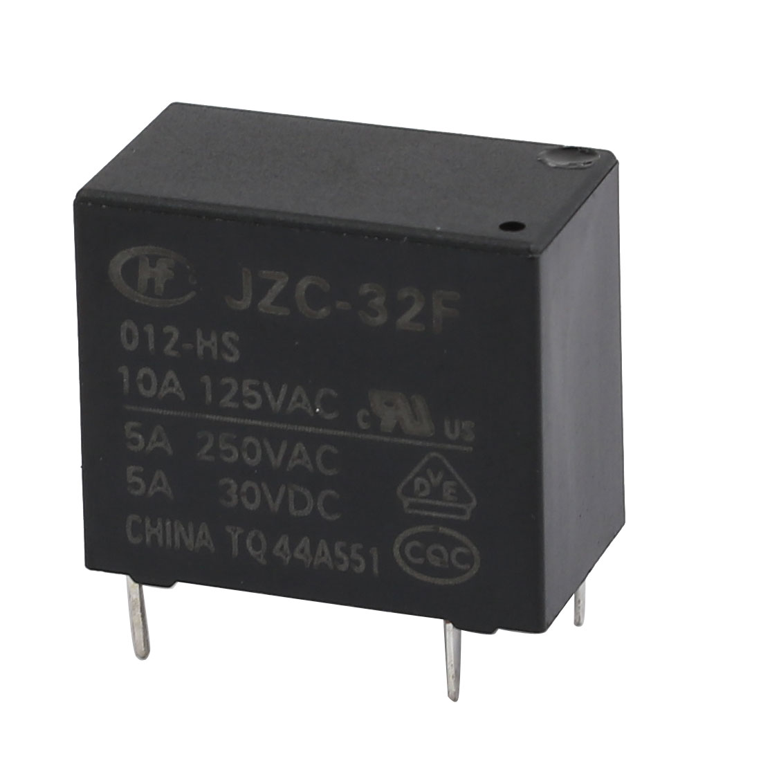 DC 30V 4P Power Electromagnetic Relay DIN Rail/PCB Mounted AC 250V 5A/125V 10A