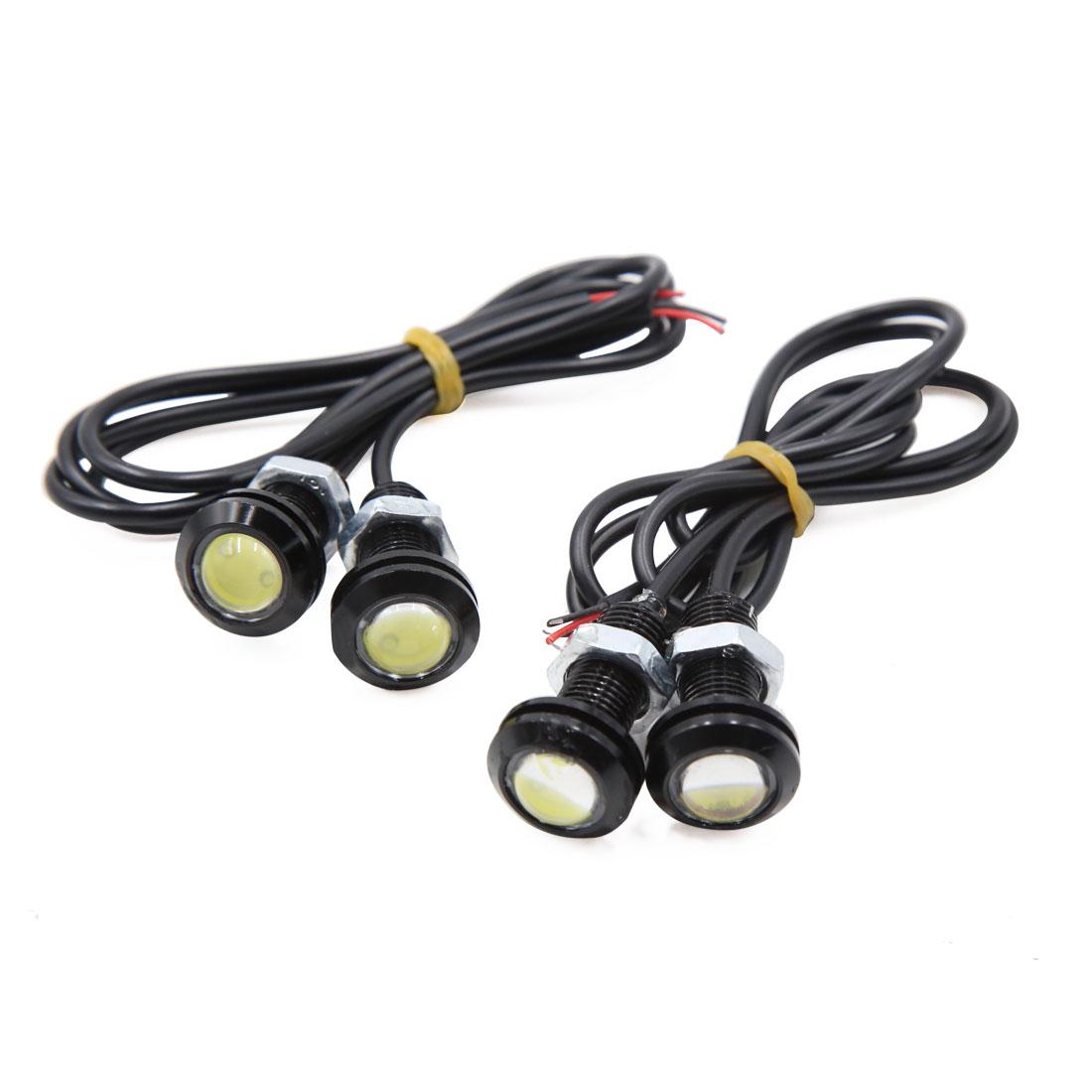 4pcs 18mm Eagle Eye LED Fog Lights Car Motor DRL Backup Bulbs White 12V 1.5W