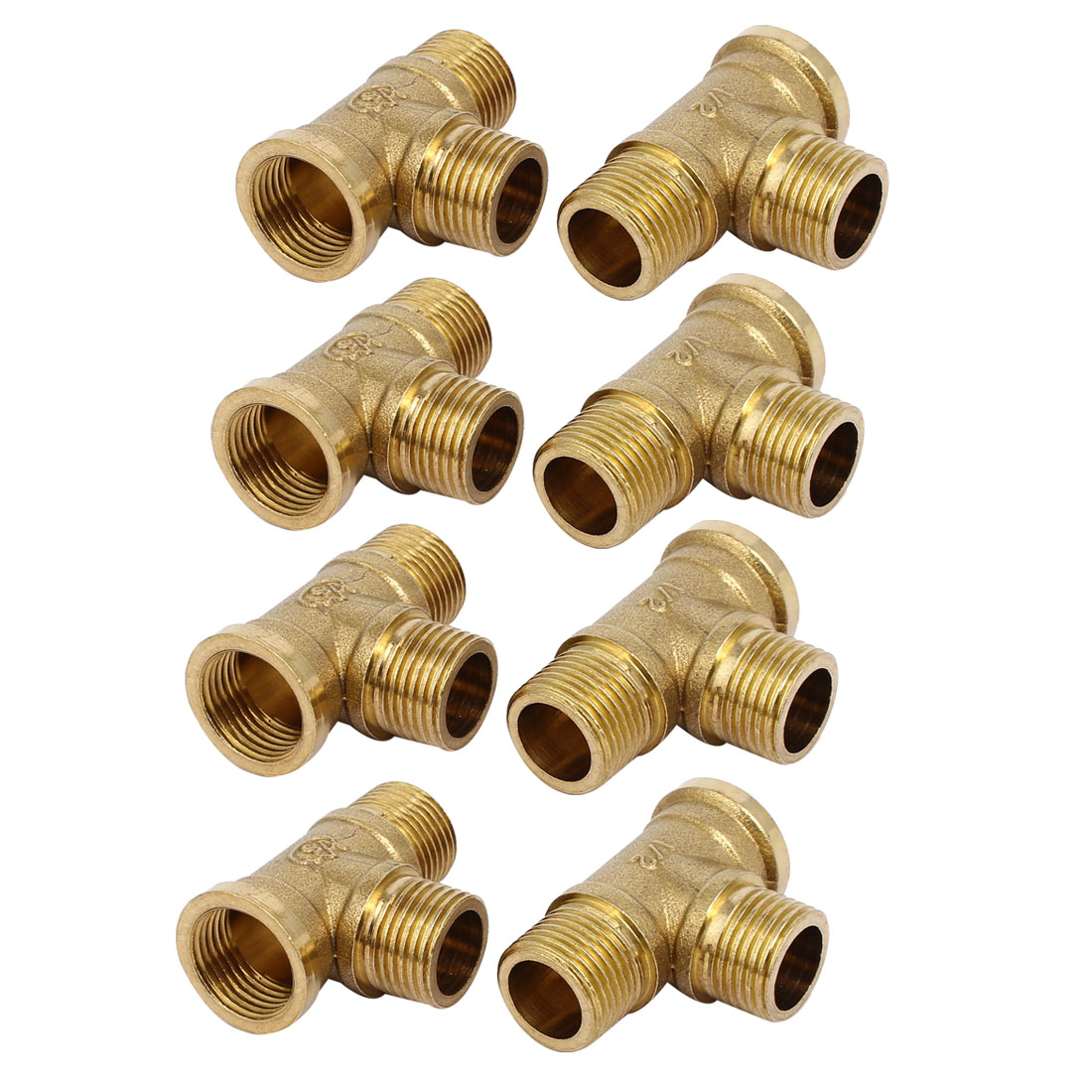1/2BSP Male to Female Thread Brass Pipe Fittings Coupling Connectors Jointers 8pcs