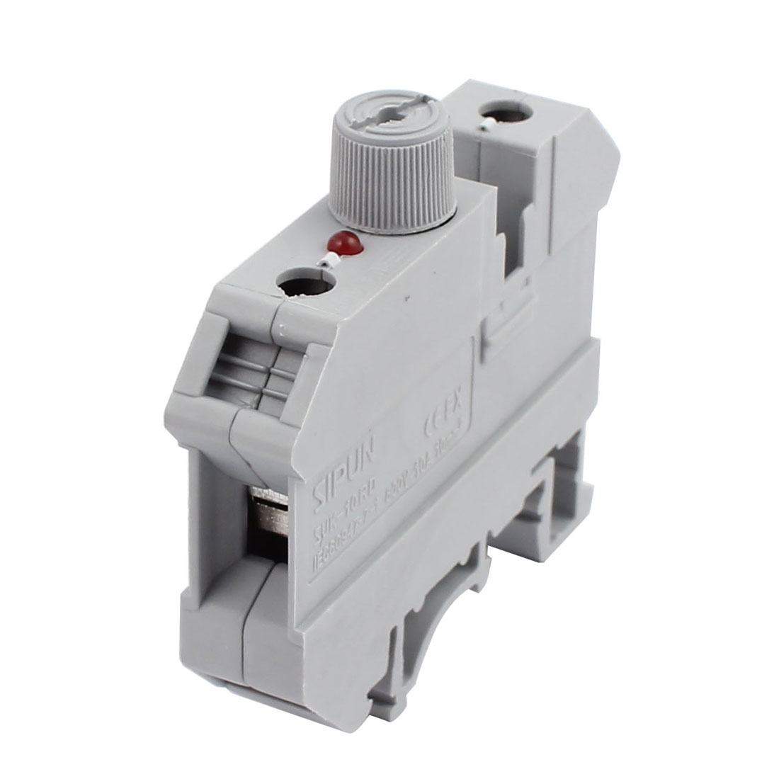 SUK-10RD 800V 10A Rail Mount 10mm2 Cable Fuse Type Terminal Blocks Gray
