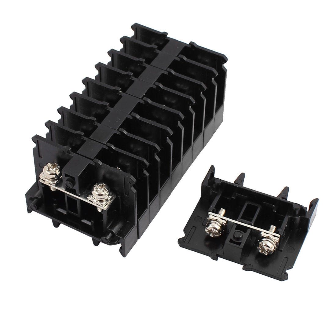 10 Pcs SN-15 600V 10A 2mm2 Screw Clamp Contact Din Rail Terminal Block