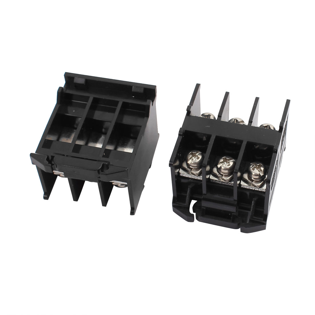 2pcs 600V 30A 5.5mm2 Double Rows 3 Positions Barrier Terminal Block SA311T