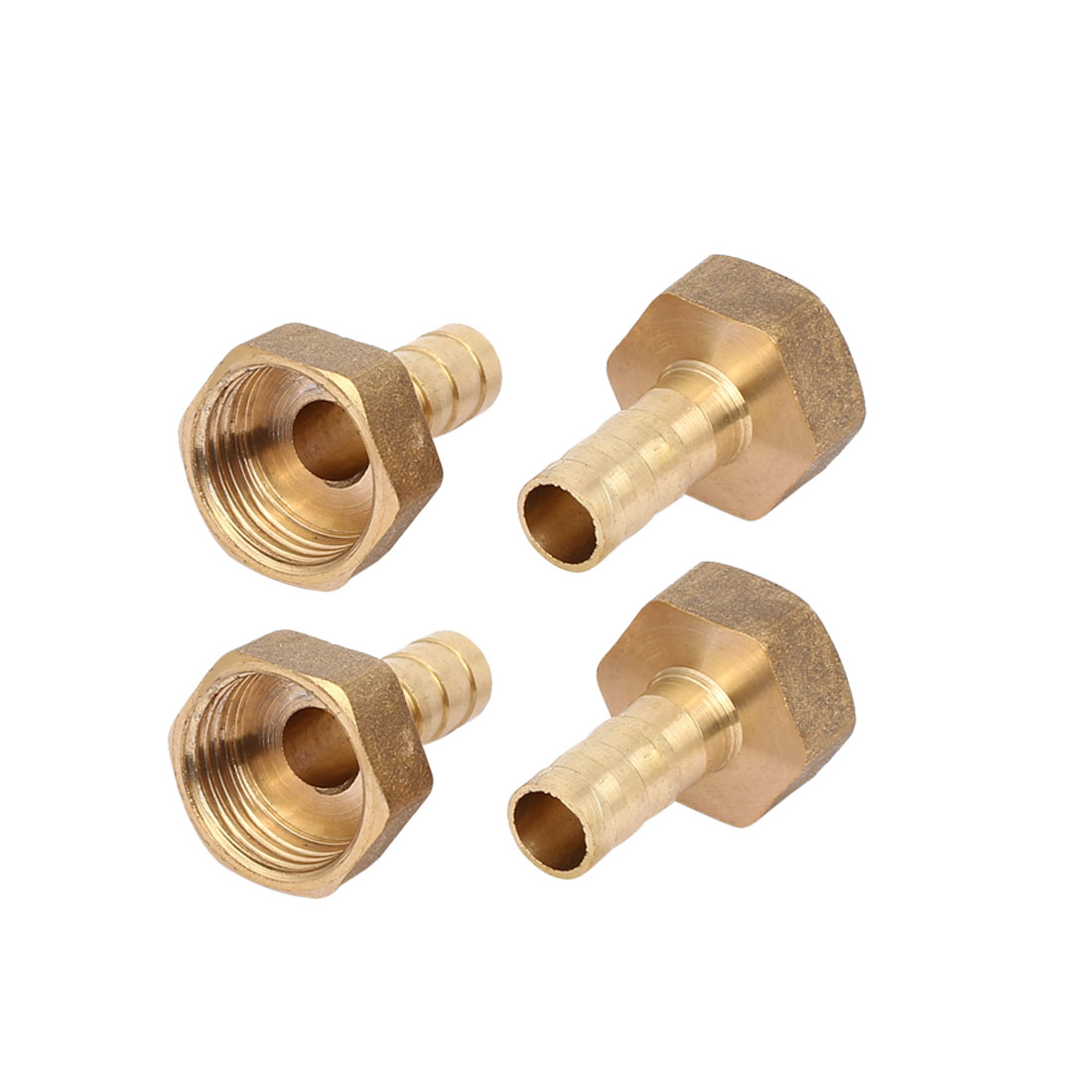 1/2BSP Female Thread 10mm Hose Barb Brass Tubing Fittings Connector 4pcs
