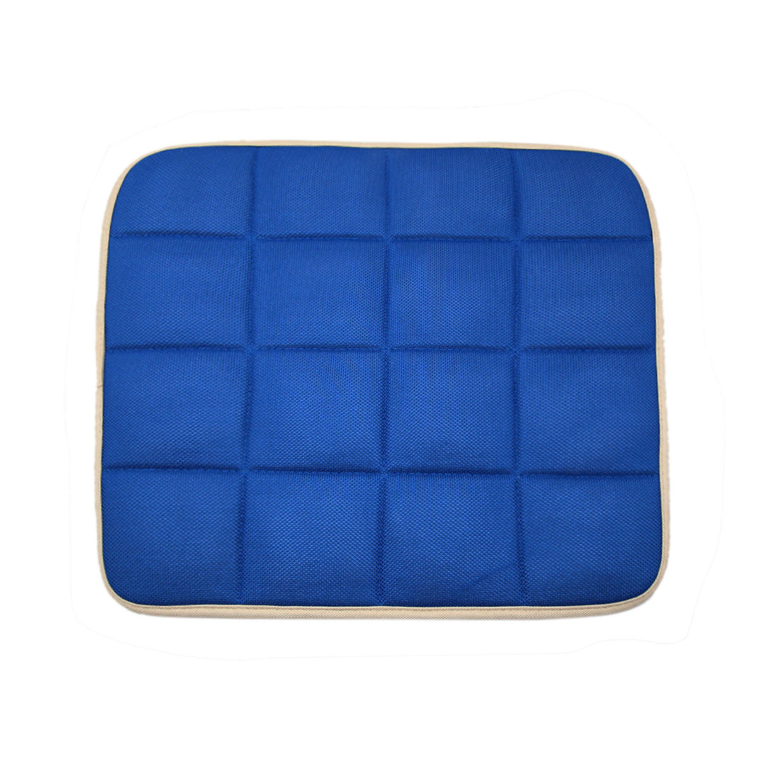 Blue Square Shaped Bamboo Charcoal Filled Car Auto Seat Cushion Mat Cover