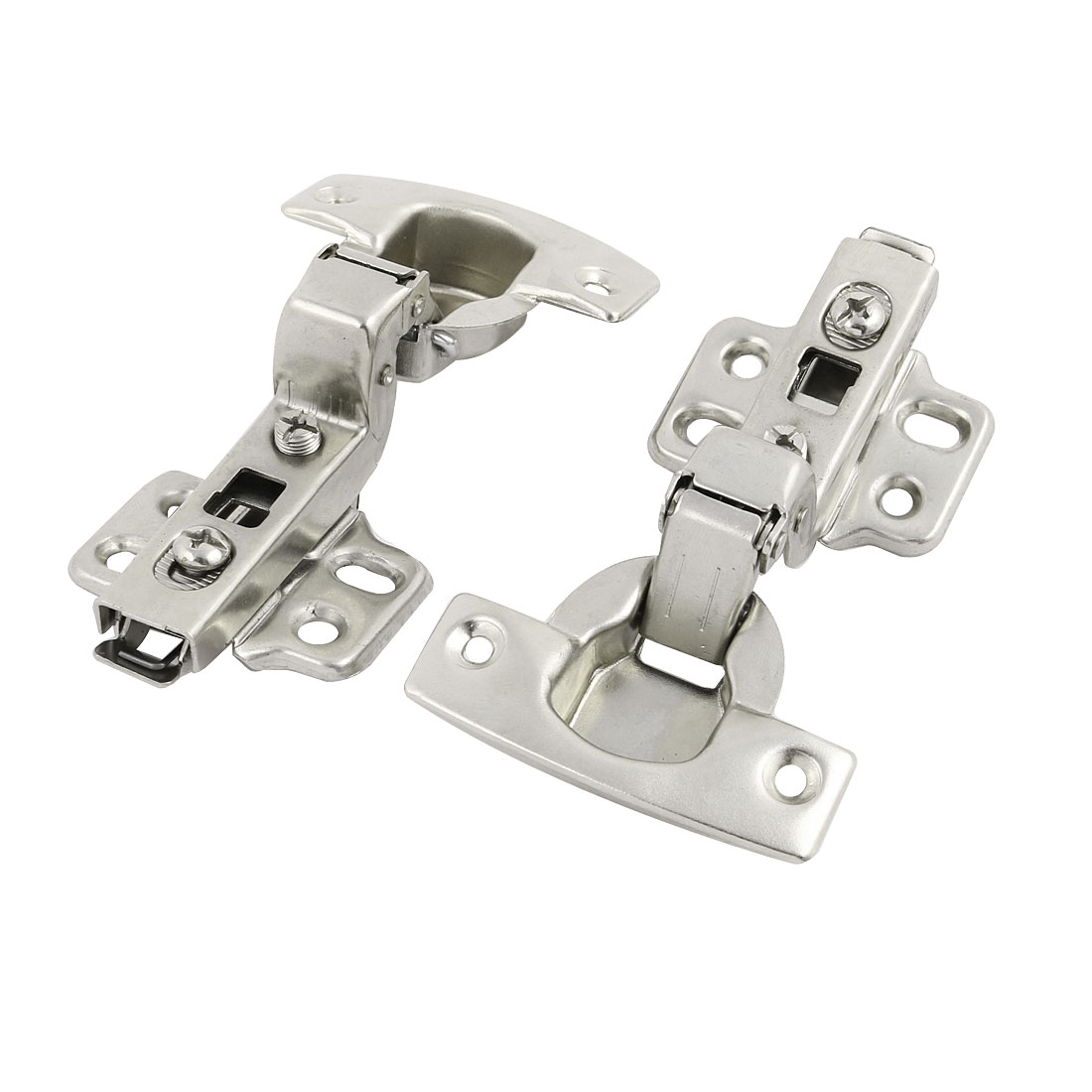 Stainless Steel Concealed Face Frame Self Closing Cabinet Hinge 2pcs