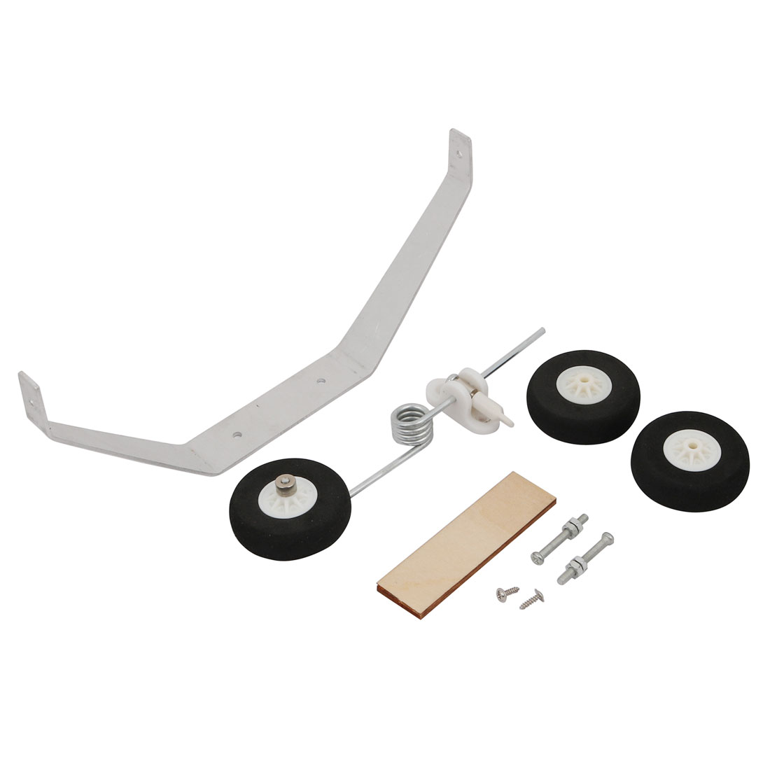Set 40mm Dia Steerable Tailwheel Assembly Kit Bracket f RC Airplane Foam Planes