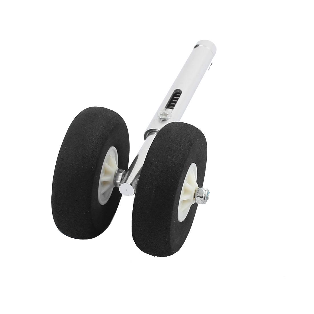 RC Model Plane Servoless Retractable Landing Gears 45mm Sponge Wheel