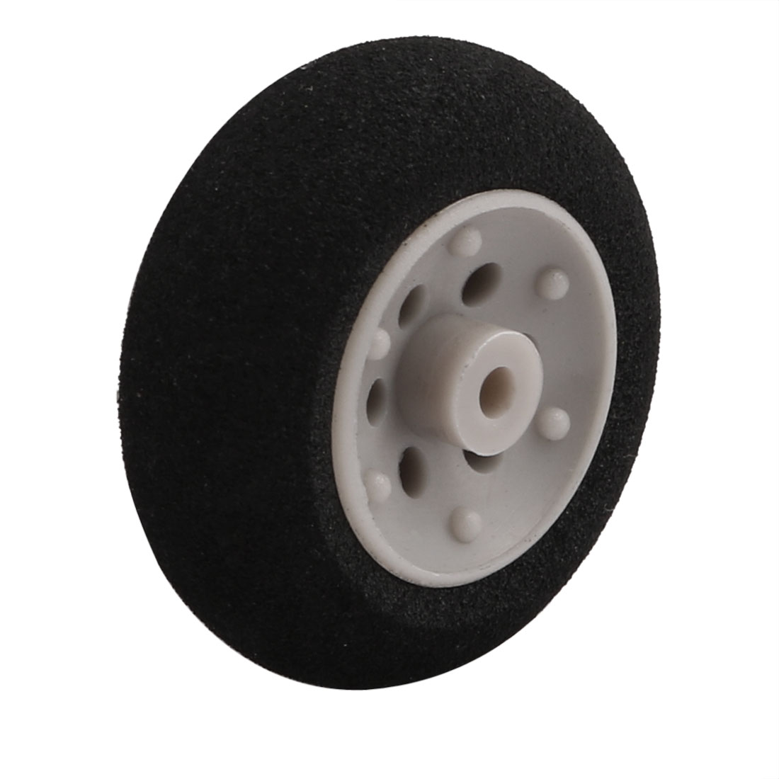 Black Ultralight Rubber Sponge Wheel 25mm x 10mm for 2mm Shaft Dia RC Aircraft