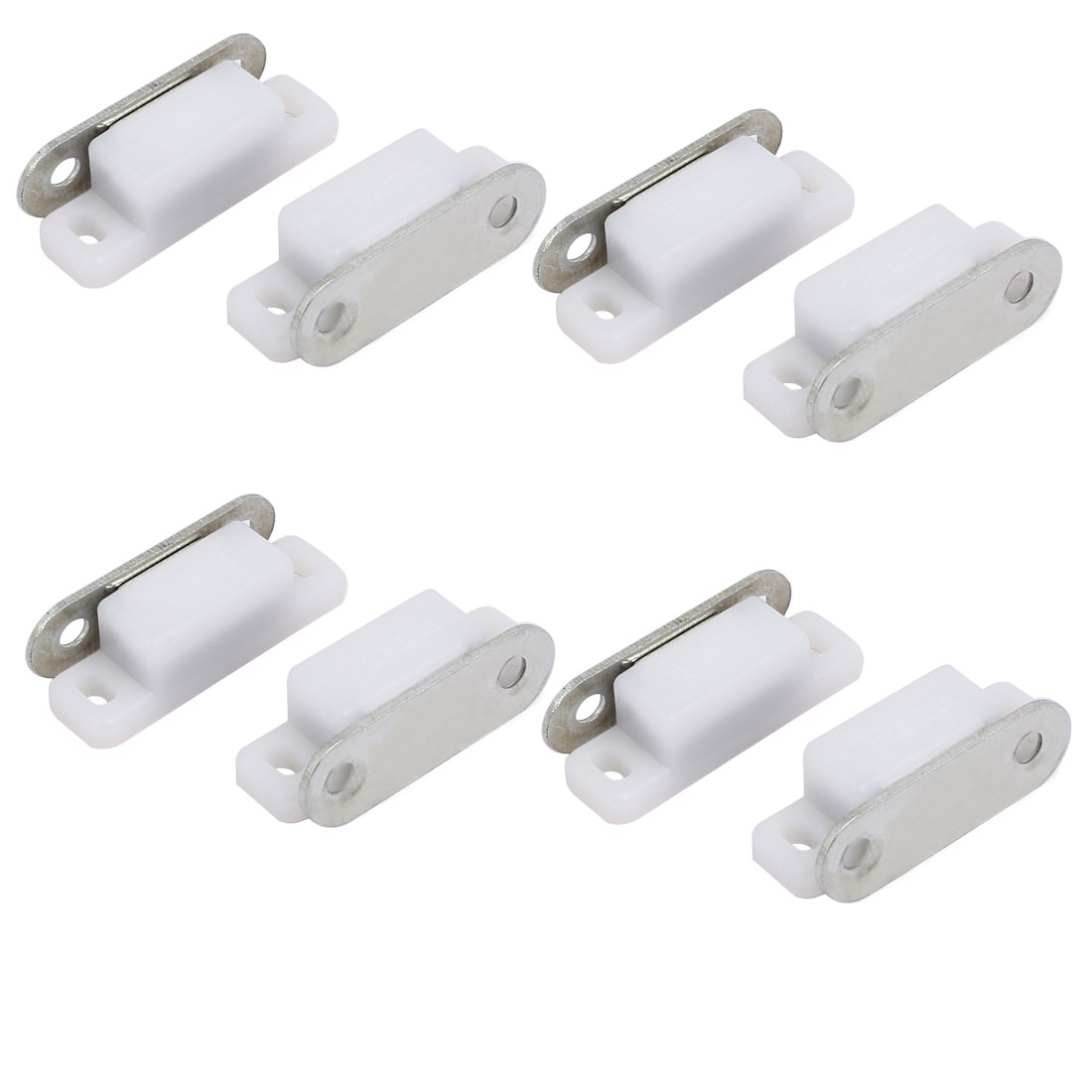 Wardrobe Door ABS Plastic Shell Magnetic Catch Latch White 28mm Length 8pcs
