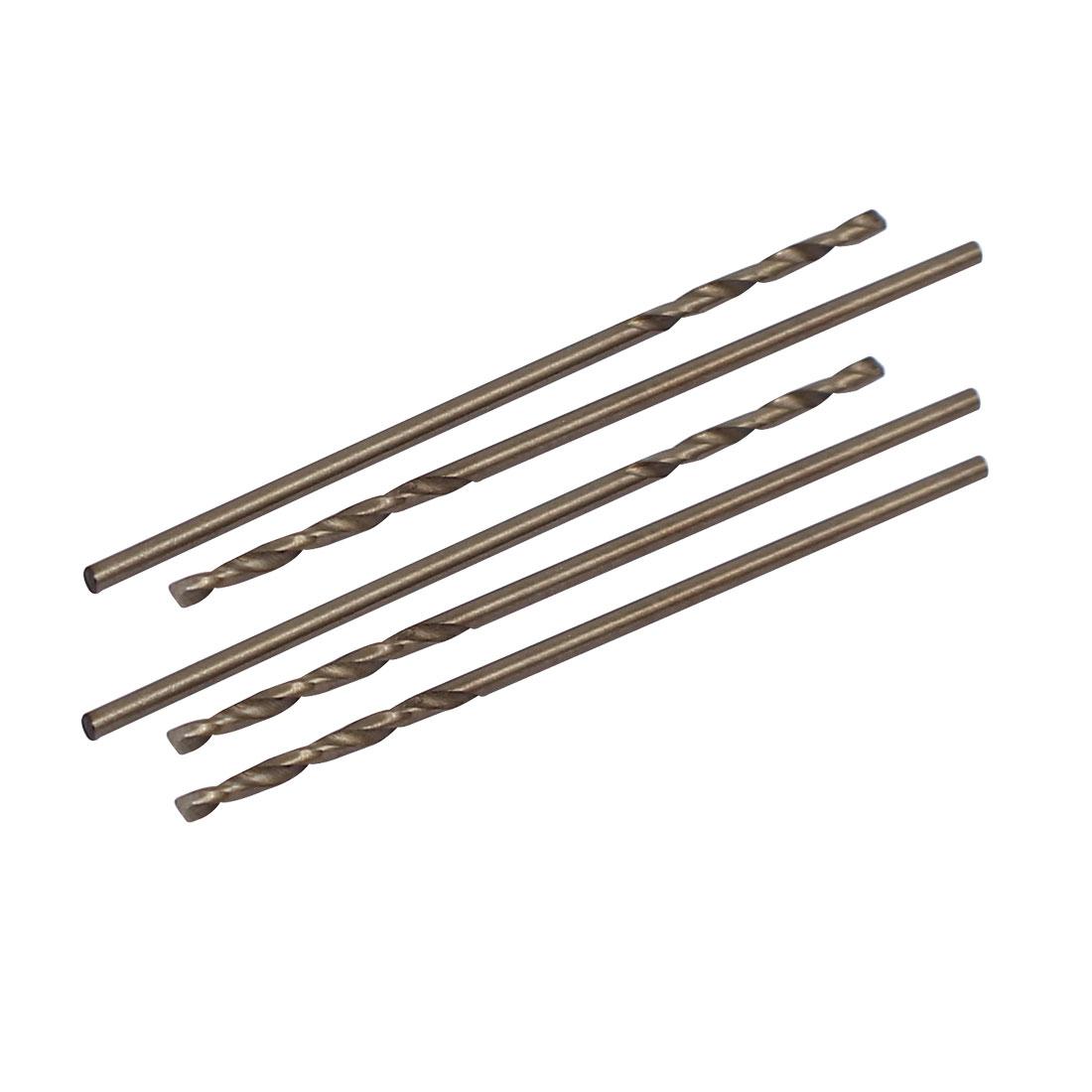 1mm Dia Split Point HSS Cobalt Metric Twist Drill Bit Drilling Tool 5pcs