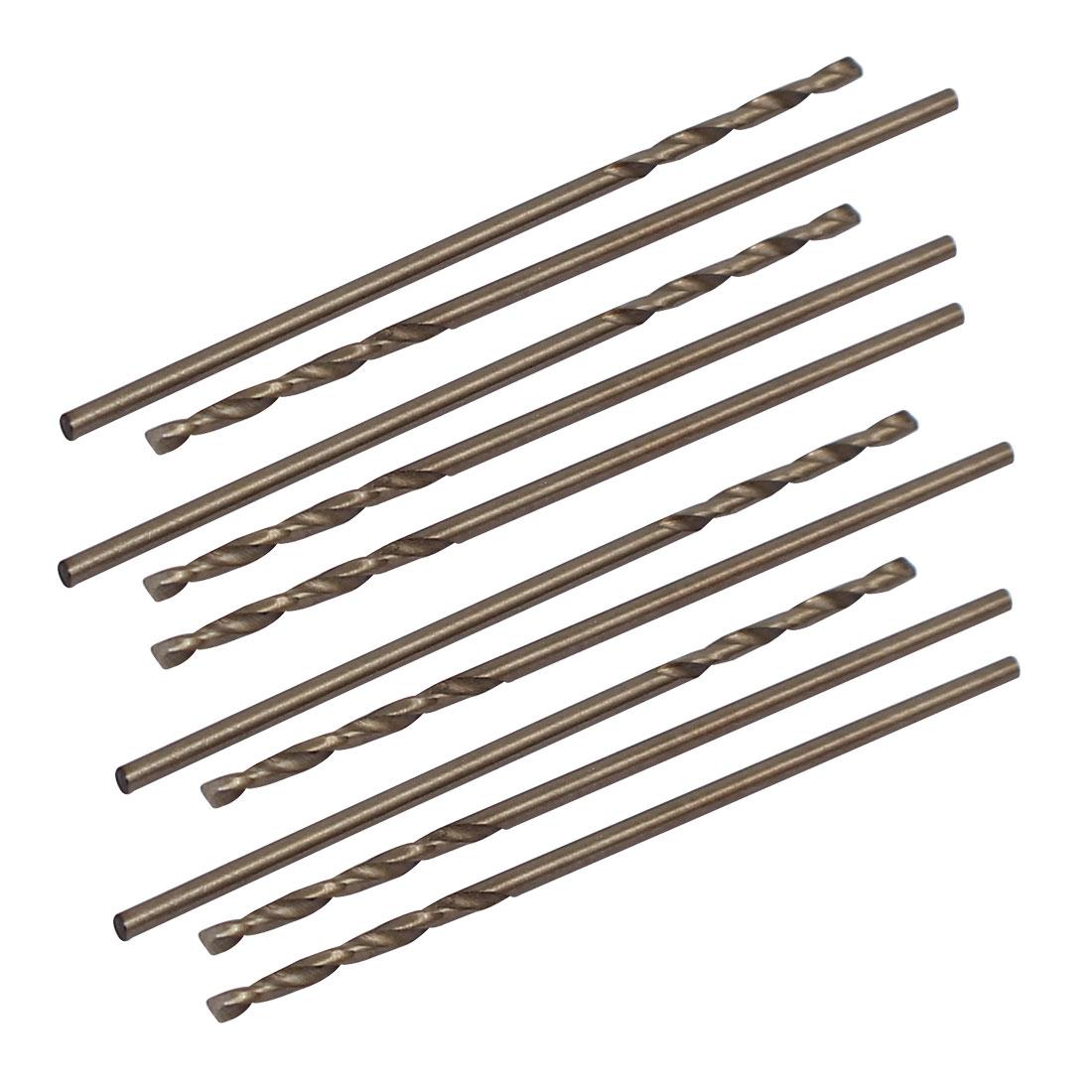 1mm Dia Split Point HSS Cobalt Metric Twist Drill Bit Drilling Tool 10pcs