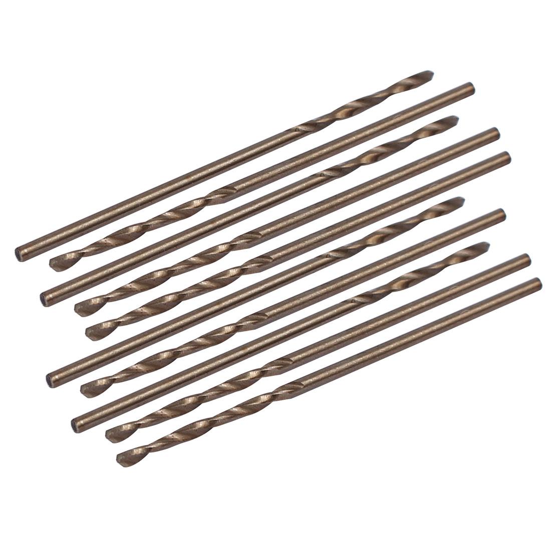 1.1mm Dia Split Point HSS Cobalt Metric Twist Drill Bit Drilling Tool 10pcs