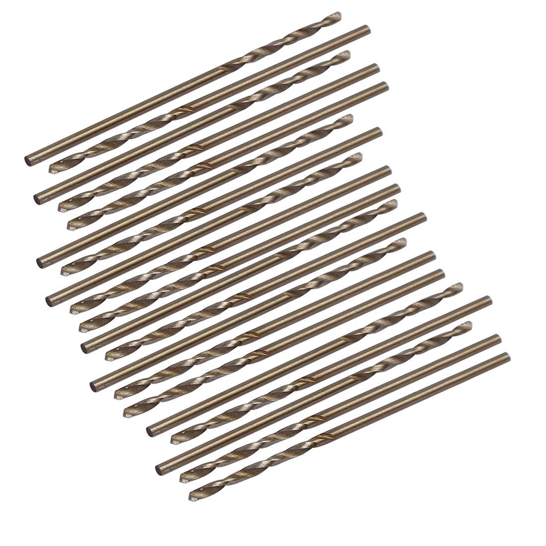 1.2mm Dia Split Point HSS Cobalt Metric Twist Drill Bit Drilling Tool 20pcs