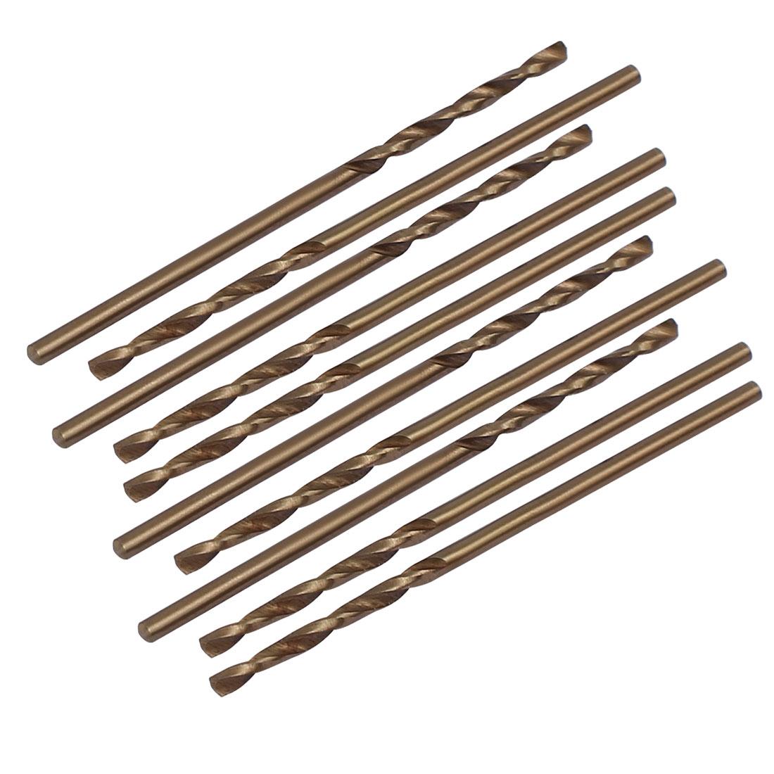 1.3mm Dia Split Point HSS Cobalt Metric Twist Drill Bit Drilling Tool 10pcs