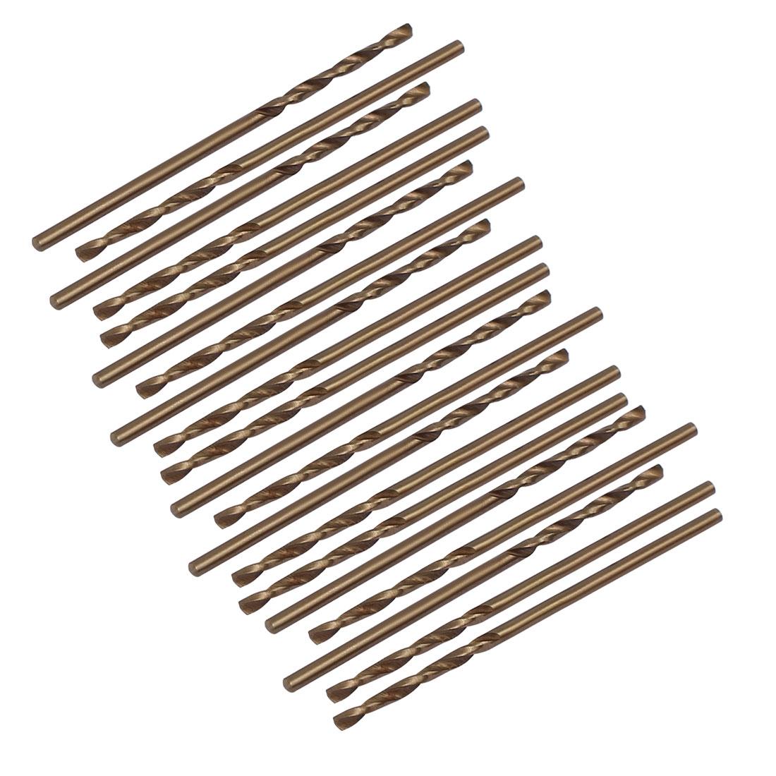 1.3mm Dia Split Point HSS Cobalt Metric Twist Drill Bit Drilling Tool 20pcs