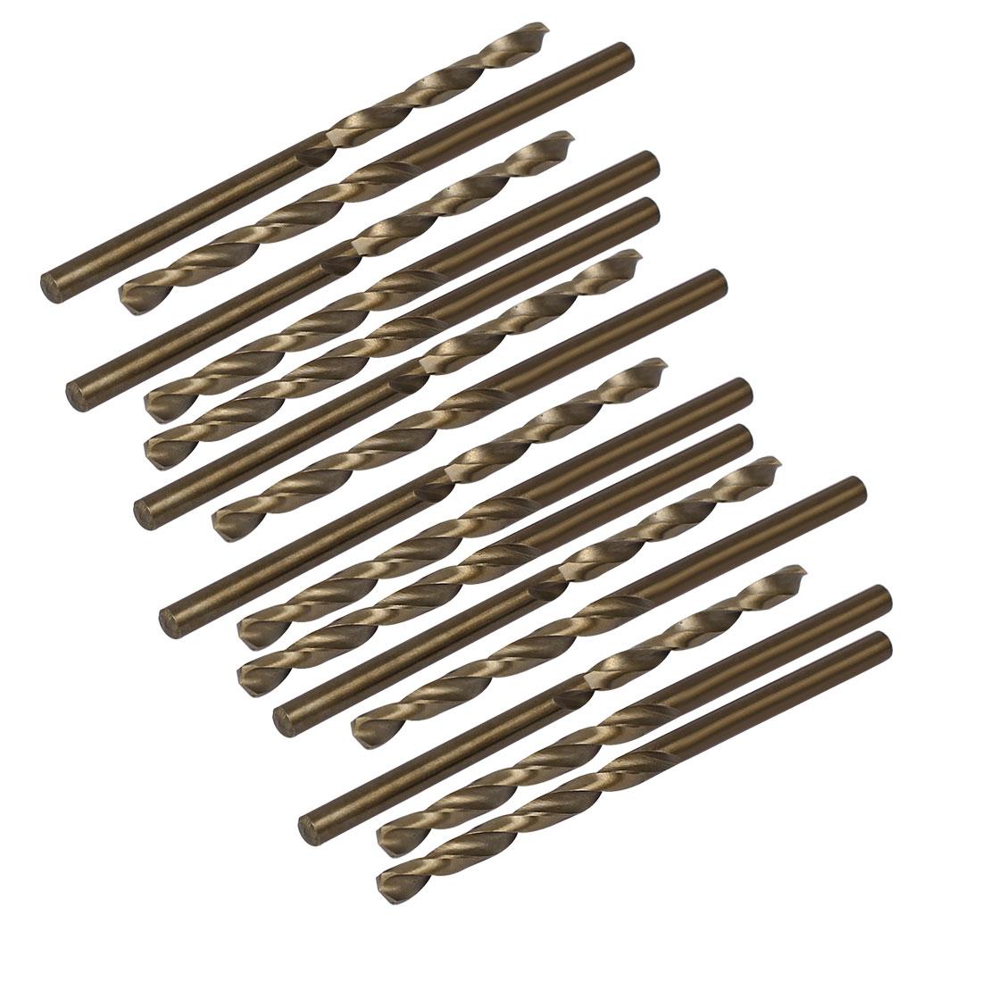3.1mm Drilling Dia HSS Cobalt Metric Spiral Twist Drill Bit Rotary Tool 15pcs