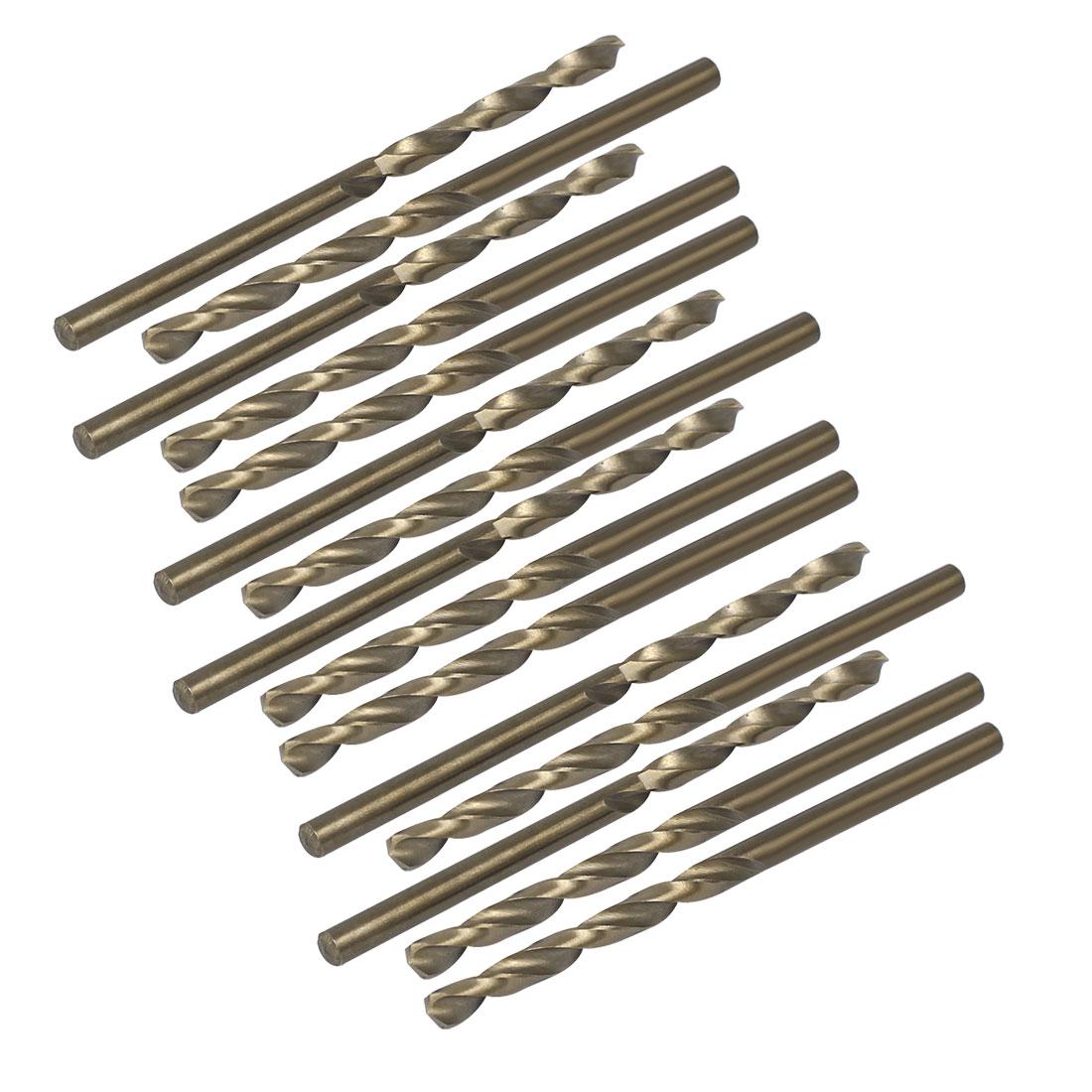 3.2mm Drilling Dia HSS Cobalt Metric Spiral Twist Drill Bit Rotary Tool 15pcs