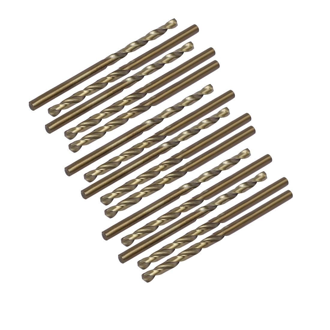 3.3mm Drilling Dia HSS Cobalt Metric Spiral Twist Drill Bit Rotary Tool 15pcs