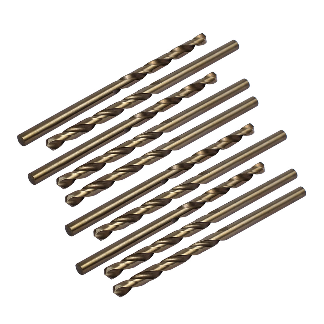 3.5mm Drilling Dia HSS Cobalt Metric Spiral Twist Drill Bit Rotary Tool 10pcs