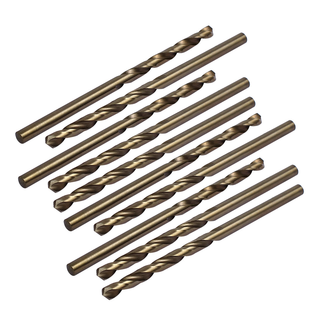 3.6mm Drilling Dia HSS Cobalt Metric Spiral Twist Drill Bit Rotary Tool 10pcs