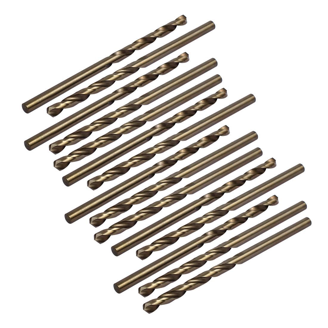 3.6mm Drilling Dia HSS Cobalt Metric Spiral Twist Drill Bit Rotary Tool 15pcs