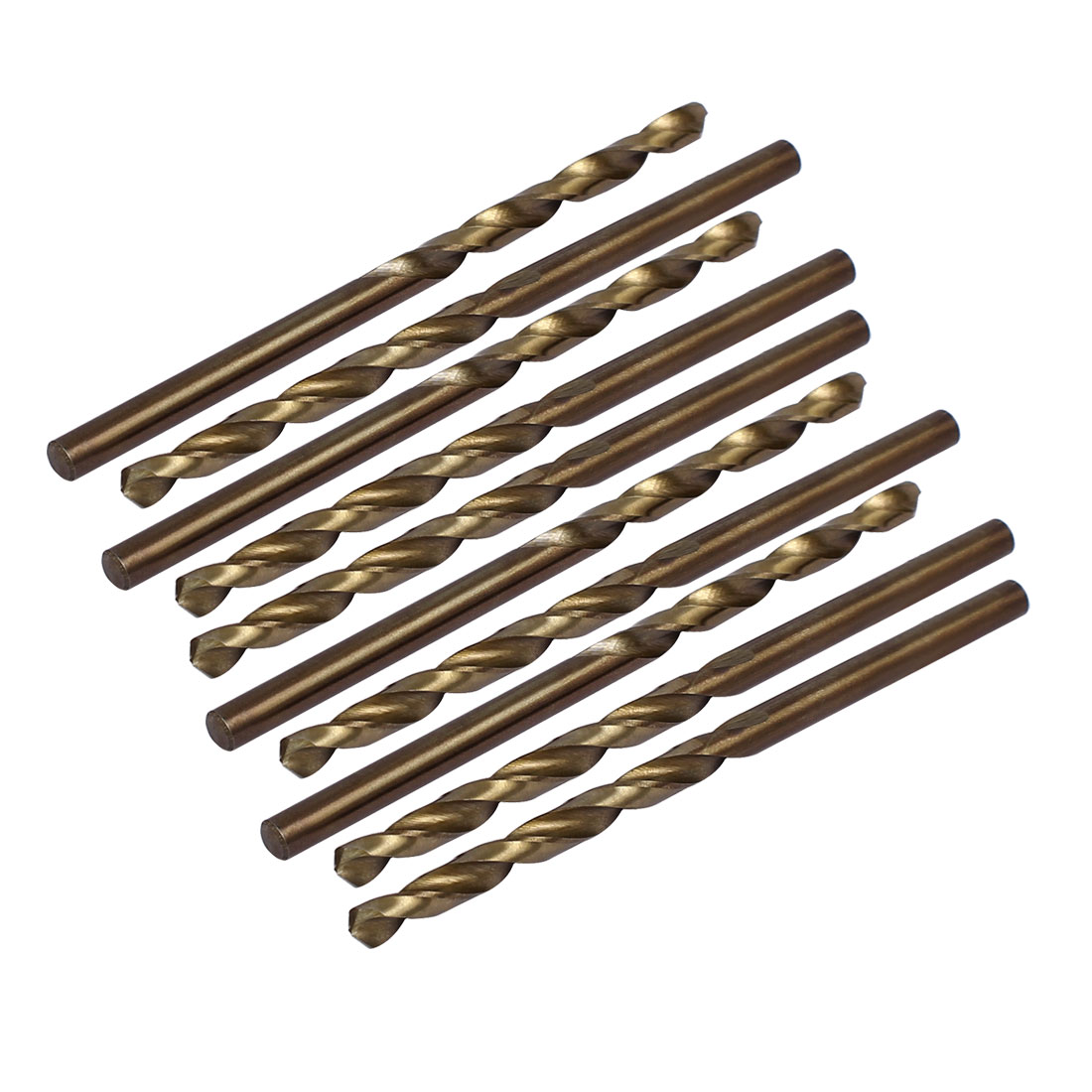 3.7mm Drilling Dia HSS Cobalt Metric Spiral Twist Drill Bit Rotary Tool 10pcs