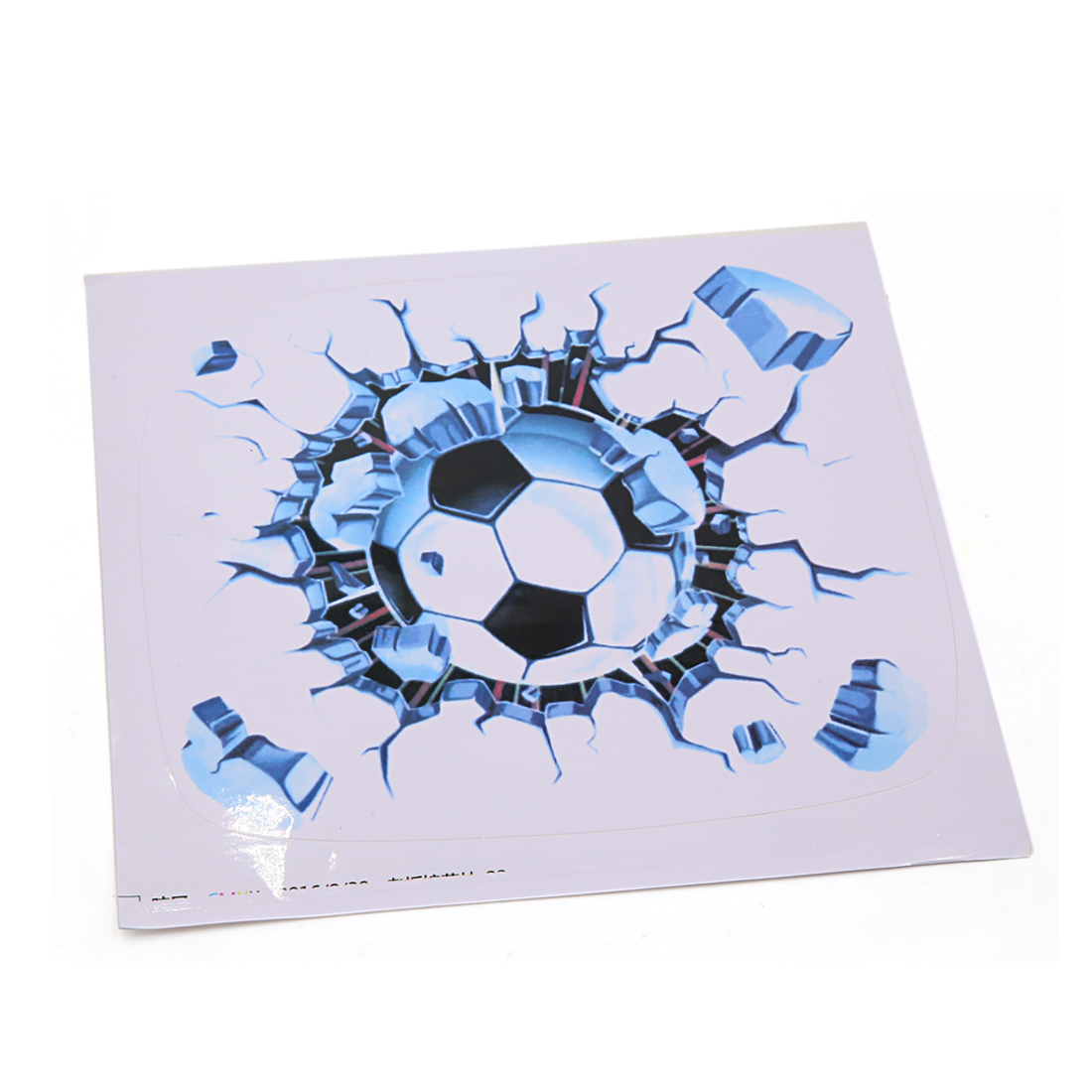 21 x 20cm 3D Soccer Pattern Car Automobile Decorative Decal Sticker