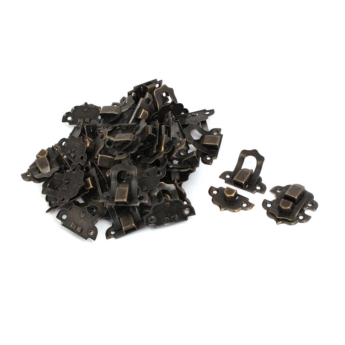 32mmx29mmx8mm Screw Fixed Catches Latches Locks Bronze Tone 30pcs for Box Case