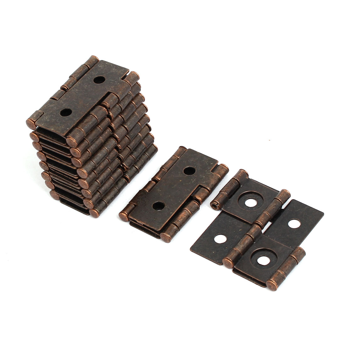 47mmx45mmx5mm Antique Style Double Acting Folding Screen Hinge Copper Tone 10pcs