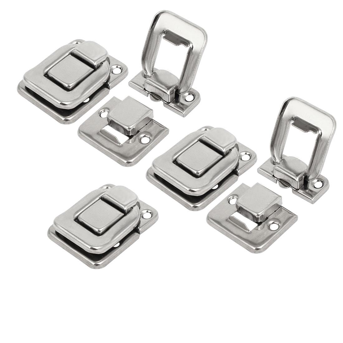38mmx29mmx8mm Latches Hasps Locks Silver Tone 5pcs for Toolbox Jewelry Box
